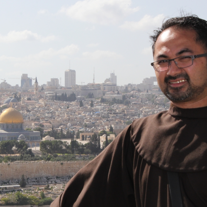 Canadian Franciscan Carlos Ona in the Holy Land