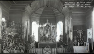 Interior of church in Chipman, Alberta.