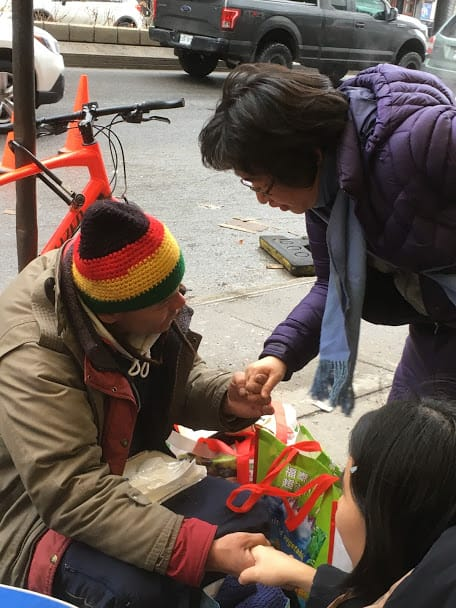 Sharing love with the homeless