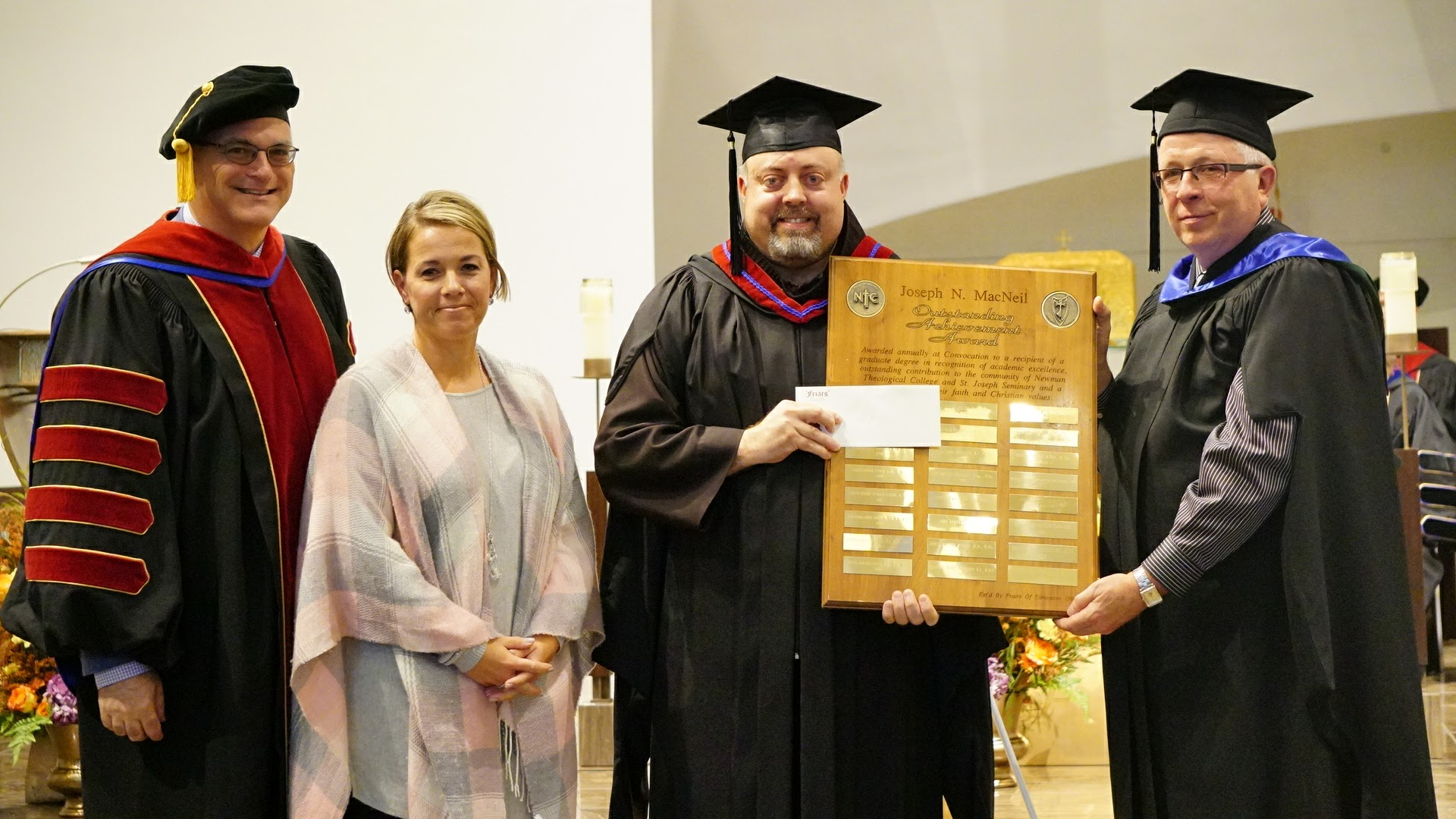 Brother Ben Ripley Receives Archbishop MacNeil Award from Newman Theological College