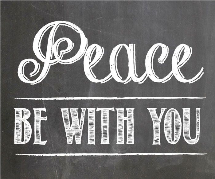 Peace Be With You – One Community