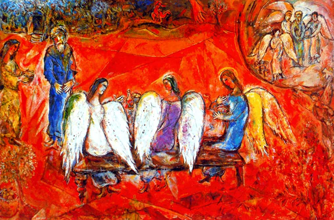 Marc Chagall: Abraham and the three Angels